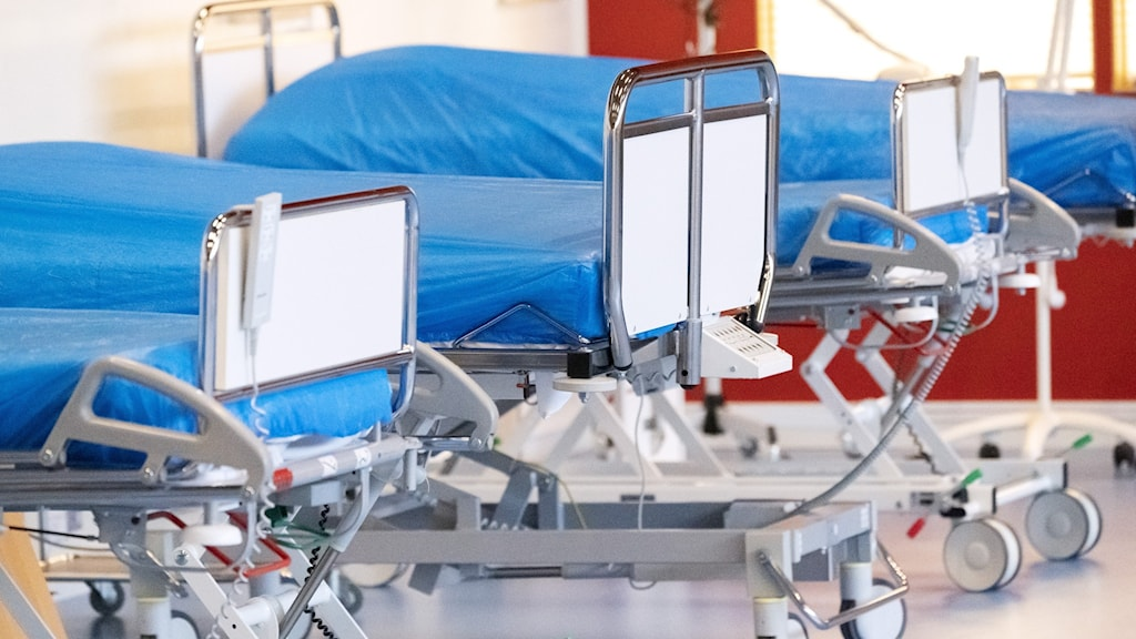 tomma sängar i sjukhussal