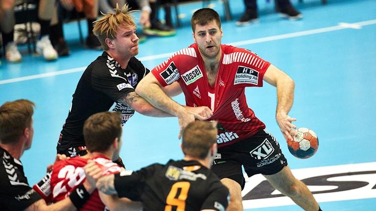 IFK Ystad:s Jonathan Mollerup under söndagens match.