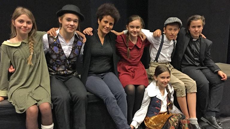 Maria Müllern - Aspegren, Hanna Torkelsson, regissör Maria Enetjärn, Olivia Johansson, Ella Fribyter, Oskar Åström, Hugo Brännlund