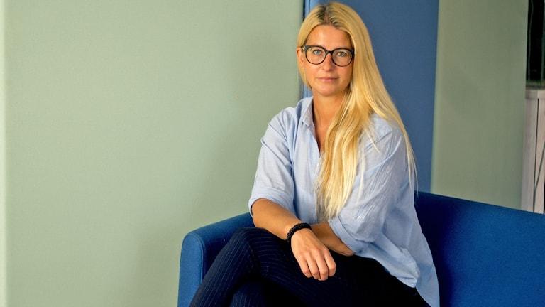 Modejournalisten Carina Adamsberg.