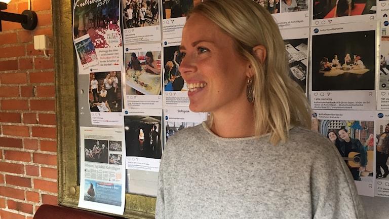 Therese Vilhlemsson, danspedagog på kulturhuset Barbacka i Kristianstad. Foto: Jenny Johnsson Roos/Sveriges Radio