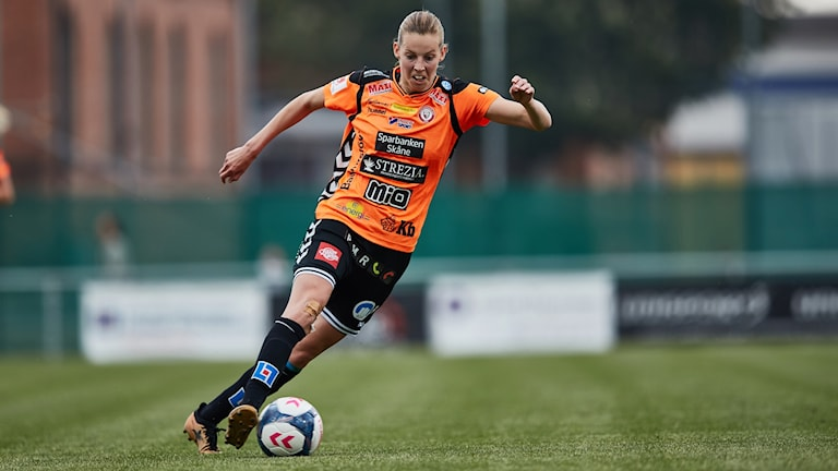 Kristianstads Amanda Edgren.