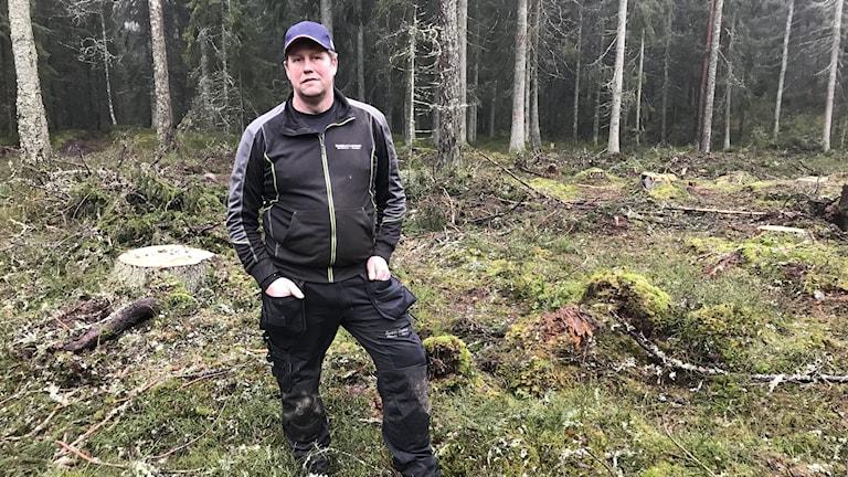 Skogsägaren Henrik Sundell i Aneby.