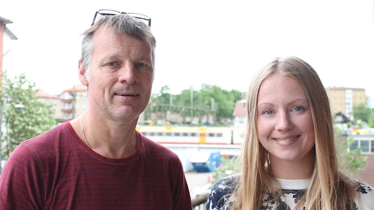 Mikael Nylander och Malin Elvén