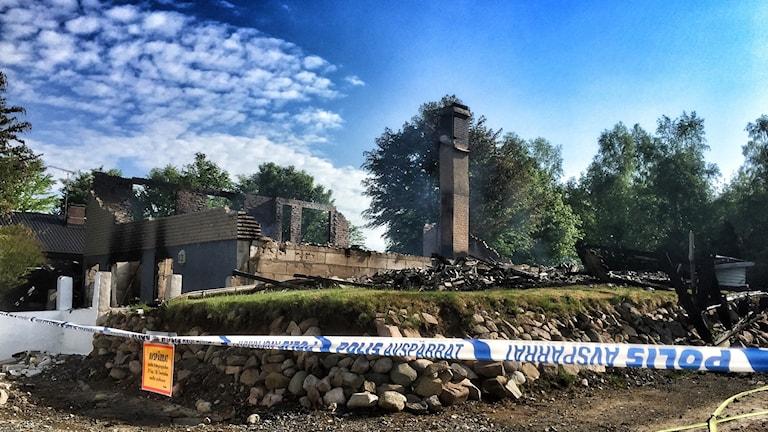 Villan i Perstorp brann ner till grunden.