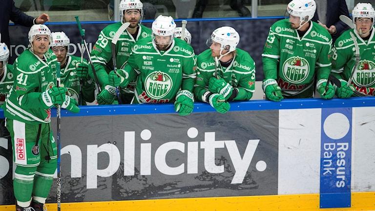 Deppande spelare i Rögle. Foto: Björn Lindgren/TT.