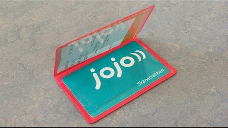 Ett Jojo-kort. Foto: Rickard Sturesson/SR