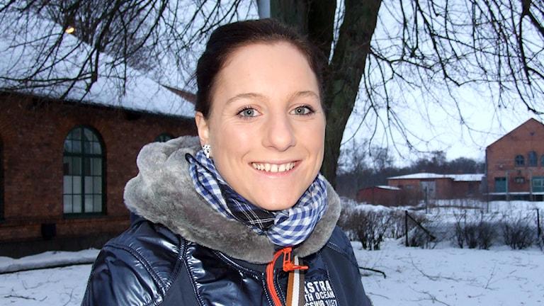 Fotbollsspelaren Antonia Göransson. Foto: Petronella Thorén/Sveriges Radio