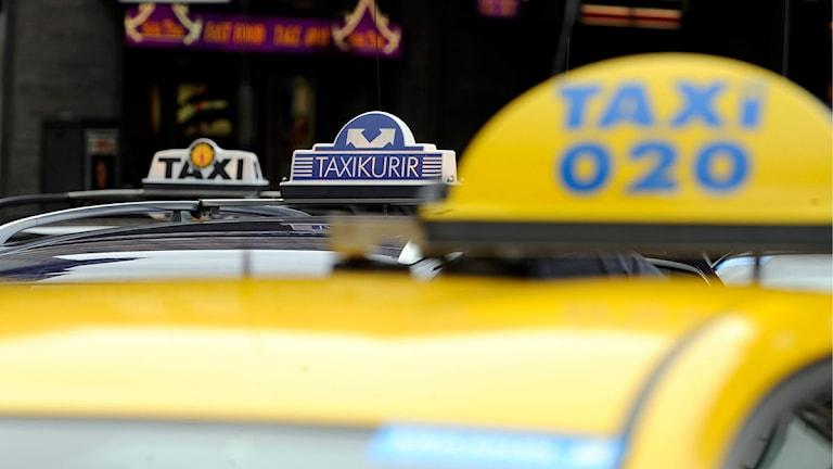 Taxibilar. Foto: Bertil Ericson/Scanpix
