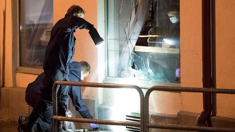 Attentat mot nattklubb i Ängelholm