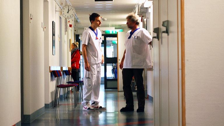 Sjukhuspersonal.