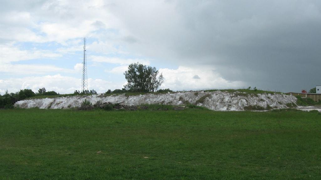 Den förorenade tomten på Norra Industriområdet i Åstorp. Foto: Bosse Johansson/Sveriges Radio