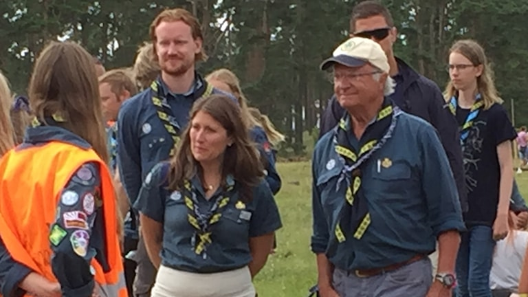 Kung Carl Gustaf på jamboree