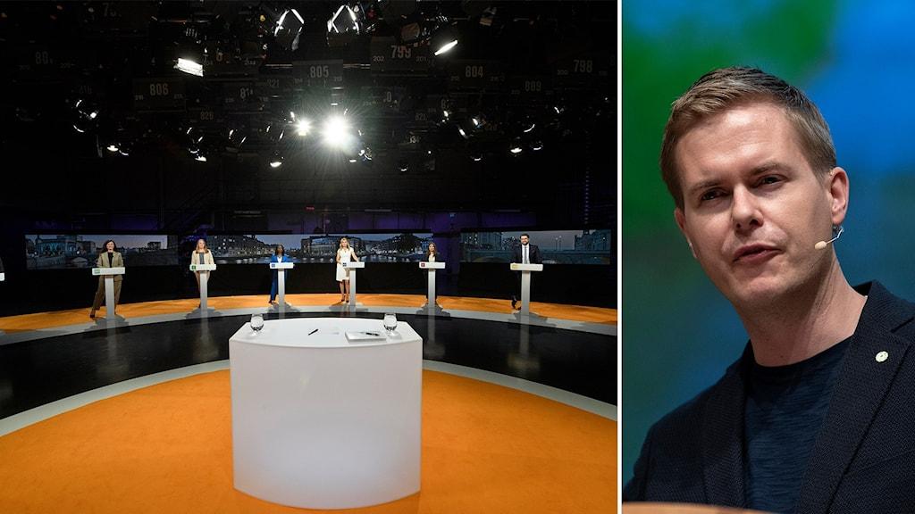 tv-debatt mellan partiledare, gustav fridolin