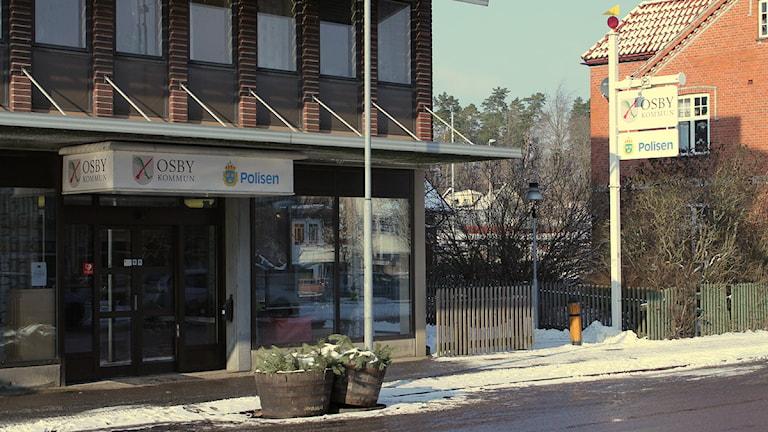 Osby kommunhus. Foto: Rickard Sturesson/Sveriges Radio
