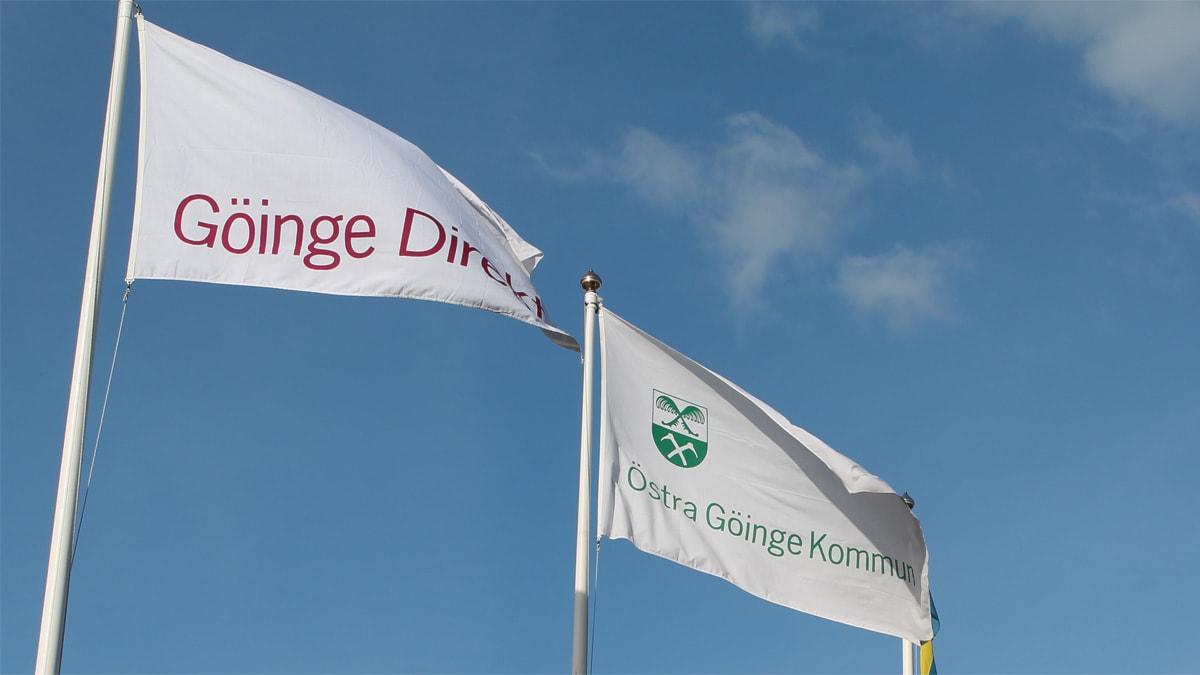 Flaggor Östra Göinge kommun. Foto: Rickard Sturesson/Sveriges Radio