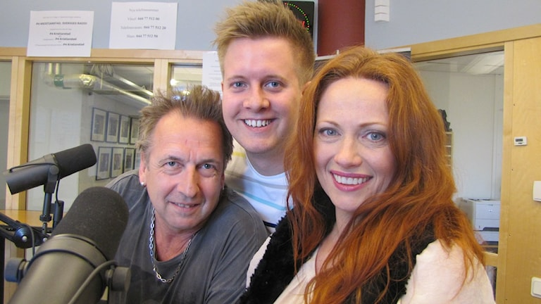 Janne Bark, Niklas Larsson och Annikafiore laddar för Melodifestivalen 2015.