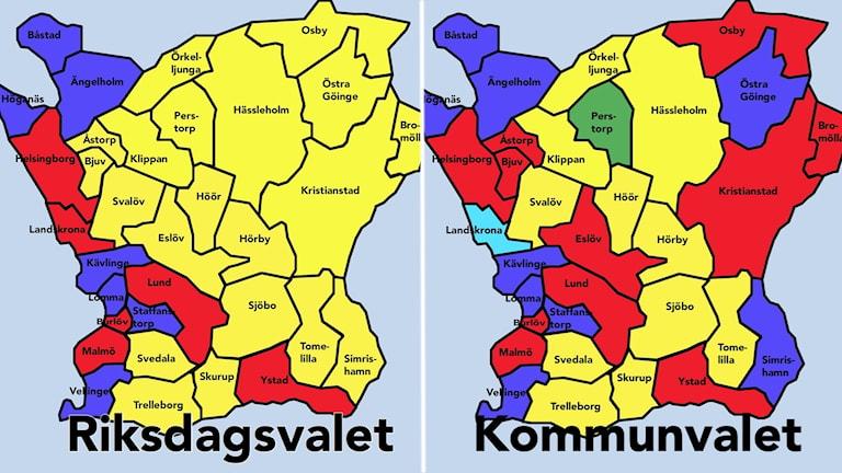 Kartor över Skåne