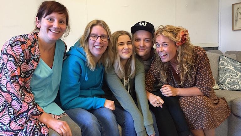 Johanna, Åsa, Ängla, Markus och Matilda.