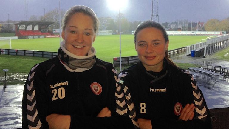 Mia Carlsson och Alice Nilsson laddar inför ödesmatchen mot Umeå imorgon.