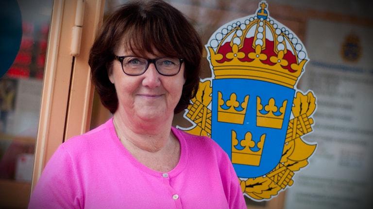 Ewa–Gun Westford, informatör hos skånepolisen. Foto: Johan Pettersson/Sveriges Radio