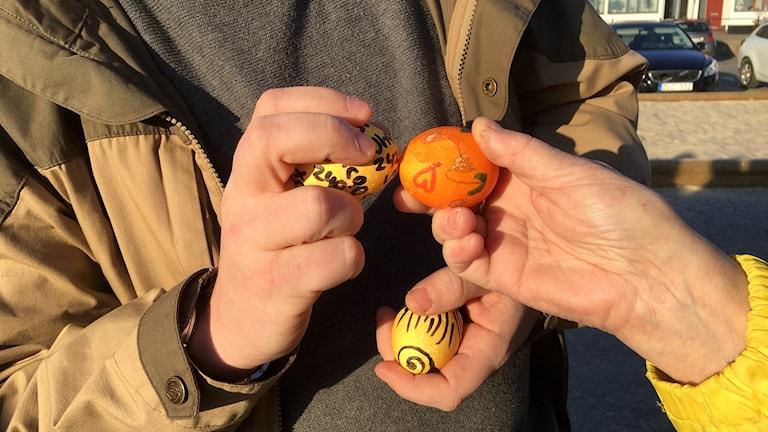 Äggpickning i Simrishamn.