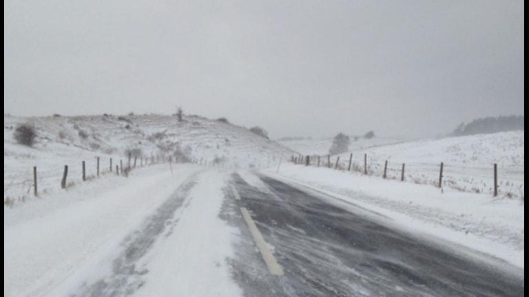 Brösarps backar i snö