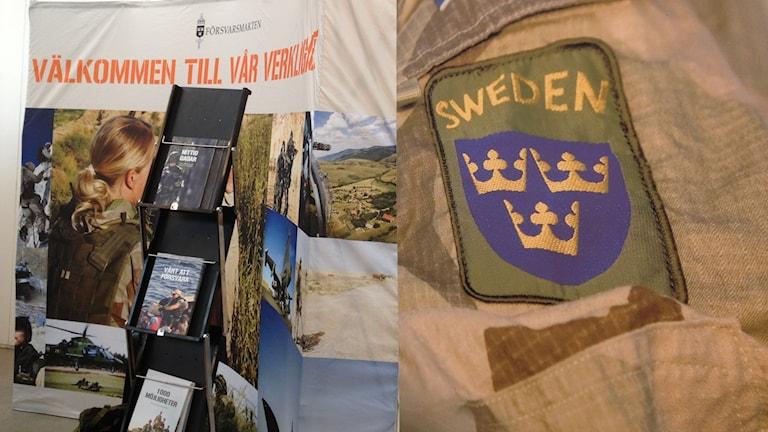 Försvarsmakten var på utbildningsmässan i Kristianstad.