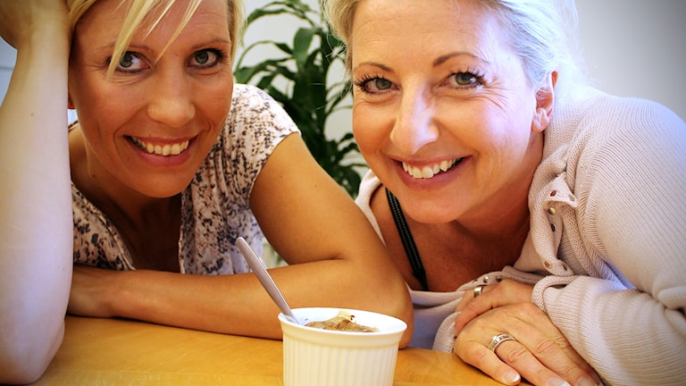Vickie Peolin och Helene Persson. Foto: Björn Holgersson/Sveriges Radio