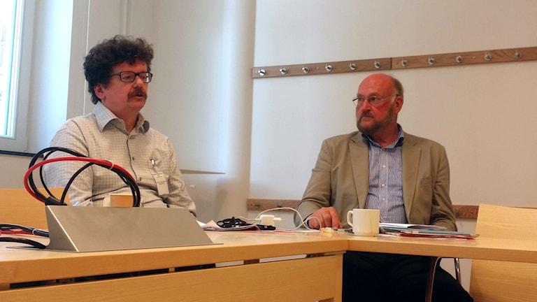 Lars Stjernkvist (S), Gunnar Hedberg (M), regeringens flyktingsamordnare
