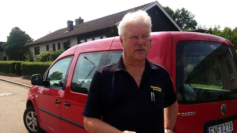 Leif Hylander från räddningstjänsten. Foto: Linda Evereus/Sveriges Radio