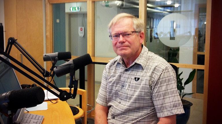 Per-Ingvar Johansson kandiderar till Riksdagen frö Centerpartiet. Foto: Linnéa Mattisson/Sveriges Radio