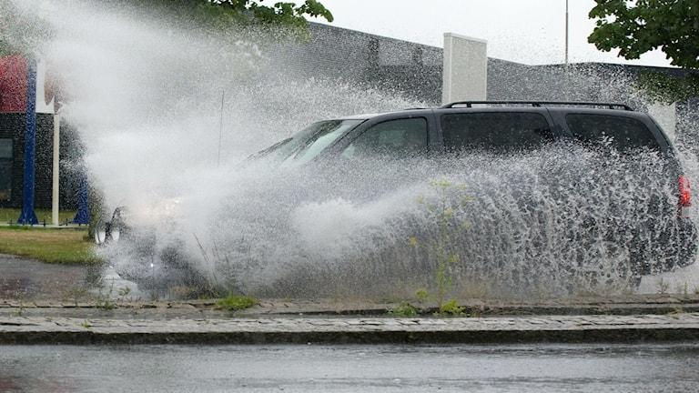 Översvämning efter häftiga skyfall. Arkivbild: Johan Nilsson/TT