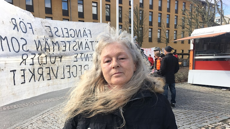 Carina Hedberg var en av demonstranterna utanför länsstyrelsen.