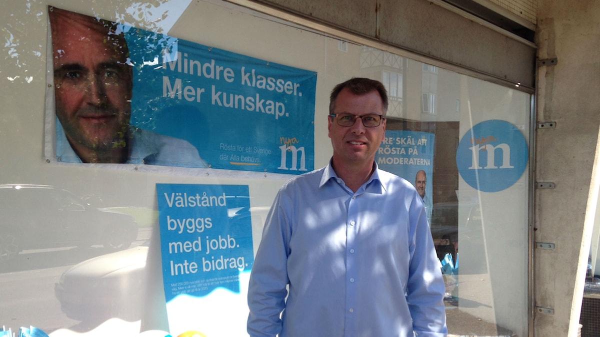 Moderaternas gruppledare i Åstorp, Pontus Pålsson.