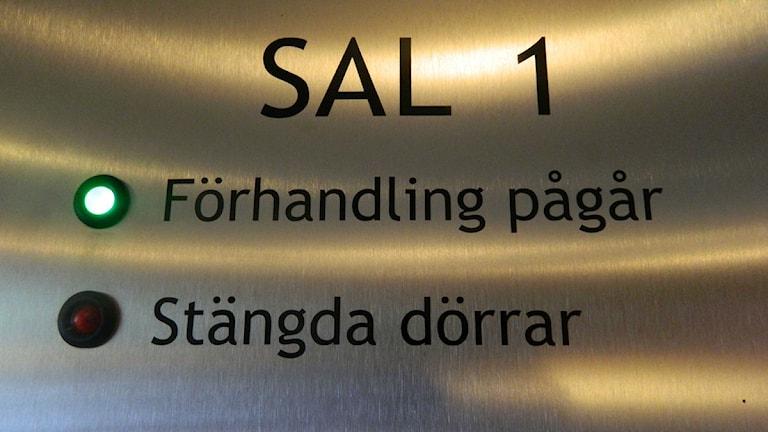Tingsrätt - Förhandling pågår. Foto: Astrid Adelgren/Sveriges Radio