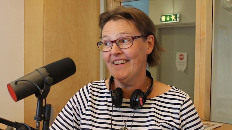 Annika Andersson, trädgårdsexpert. Foto: Leif Jönsson/Sveriges Radio