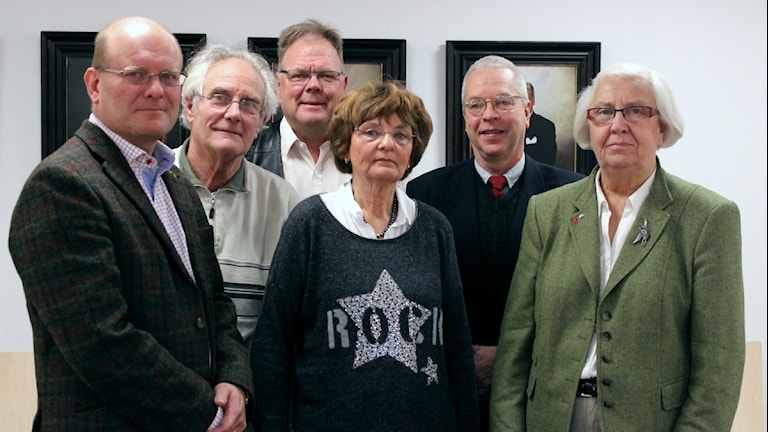 Leif Sandberg (C), Gerrit Hoogendoorn (MP), Anders Albäck (FP), Ann Harrysson (SPI), Bo Herou (KD) och Margit Svensson (M).