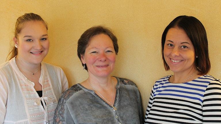 Jennifer Pålsson, Bibban Ericsson och Sarah Bladh. Foto: Leif Jönsson/Sveriges Radio