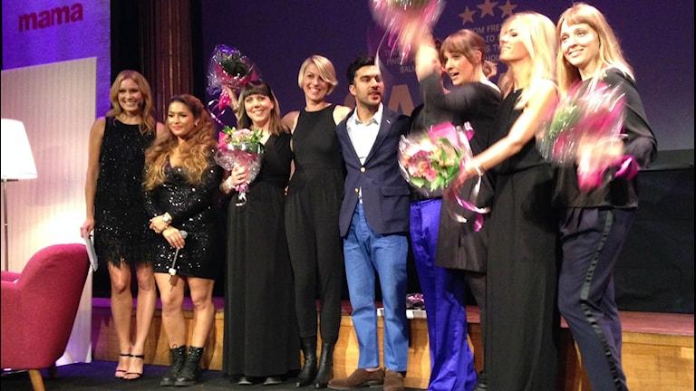 Elin Sohl (3:a från vänster) Foto: Mirijam Geyerhofer