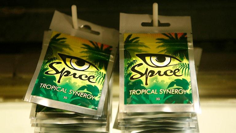 Spice - syntetisk cannabis. Foto: Markus Schreiber/TT