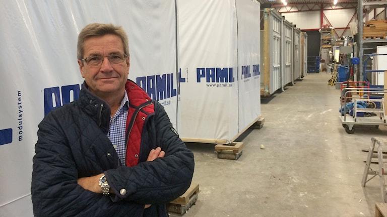 Claes Bengtsson, vd modulföretaget Pamil. Foto: Rickard Sturesson/Sveriges Radio