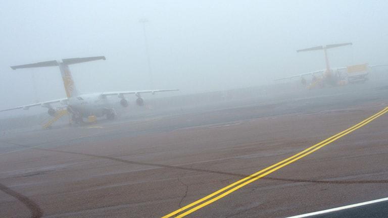 Dimma på Bromma flygplats. Foto:Johan Nilsson / TT