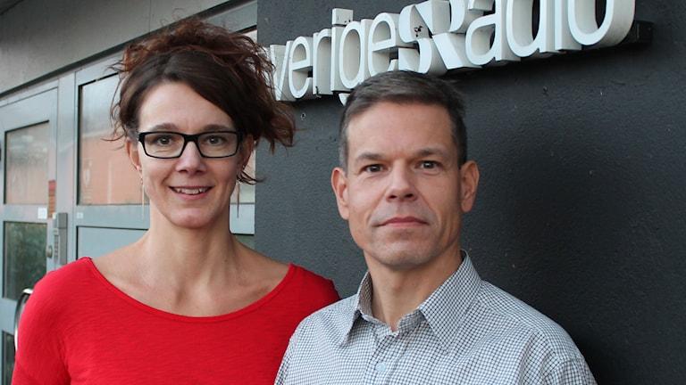 Pia Schnorrenberger, sjukgymnast och Fredrik Frisk, universitetslektor i datateknik