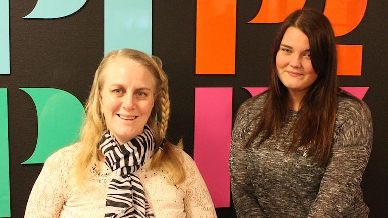 Jonna Balogh och Tilde Järlesäter. Foto: Leif Jönsson/Sveriges Radio