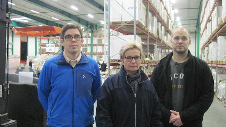 Peder Kjaersgaard, Jane Jörgensen, Pontus Lindgren vid Frode Laursen i Åstorp