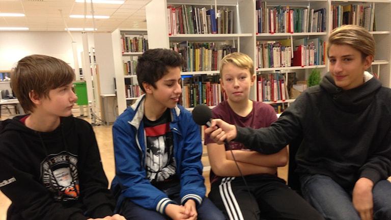 Elias, Arian, Isac och Jacob Nosabyskolan