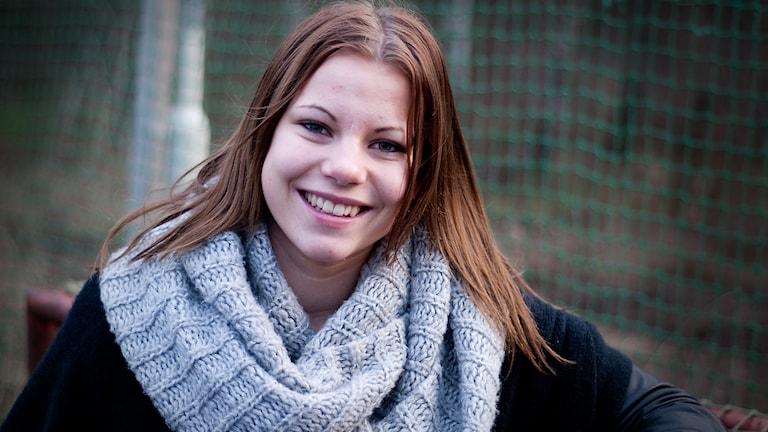 Emma Johansson, vm-spelare! Foto: Johan Pettersson/Sveriges Radio