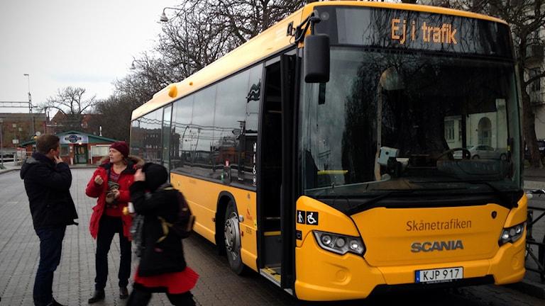 En av de nya regionbussarna som lanseras av Skånetrafiken