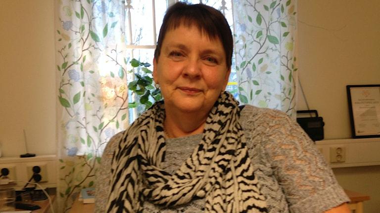 Helén Elmqvist familjefridssamordnare på Hässleholms kommun. Foto: Patrik Hekkala/Sveriges Radio
